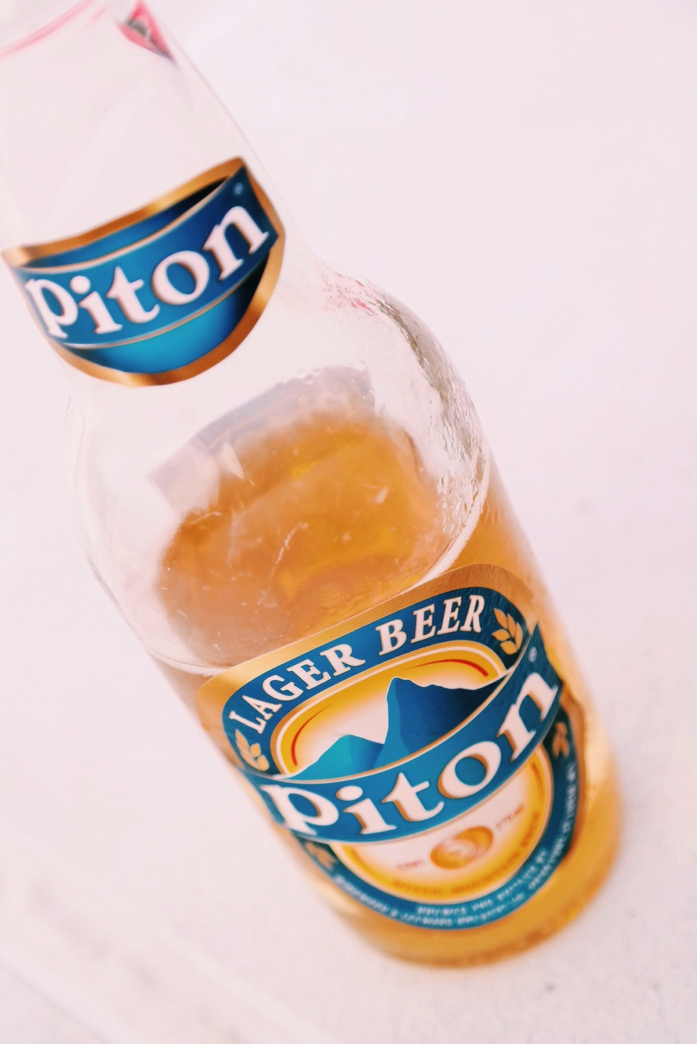 St Lucia's local beer, named after the famous Pitons, further south.