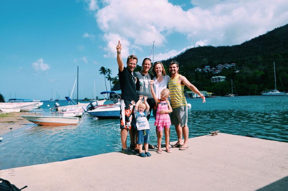 Wolfgang, Nina, the kids and us