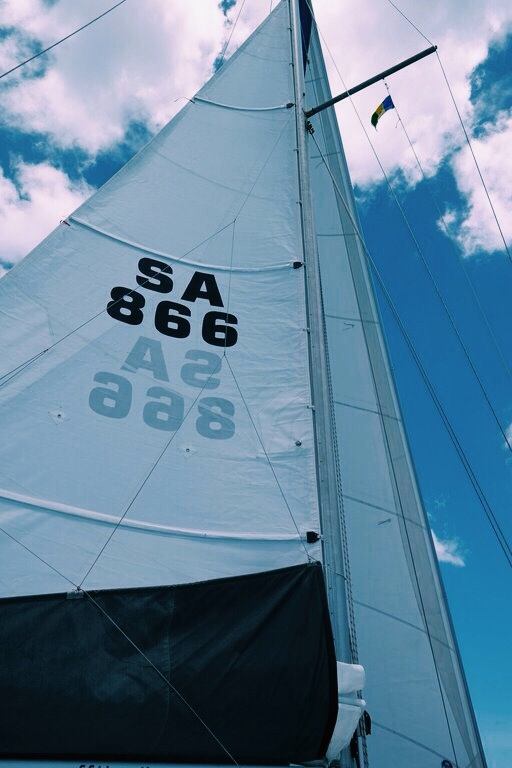 staring at our new main sail never gets old