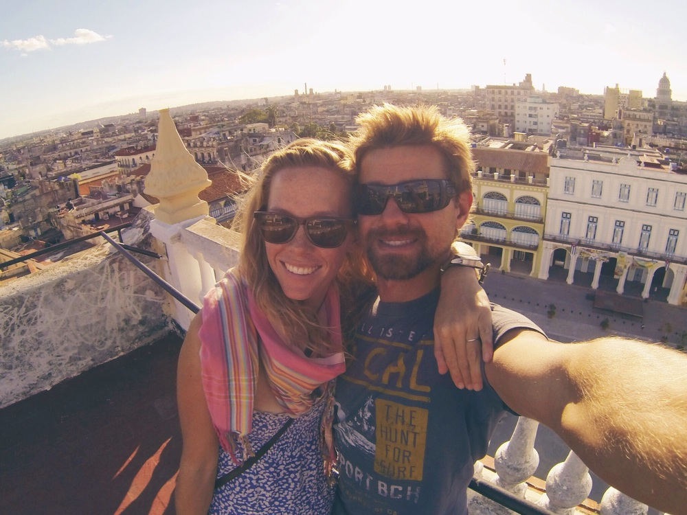 on the roof of the Camera Obscura, overlooking Old Havana, Cuba. Dec 2014.