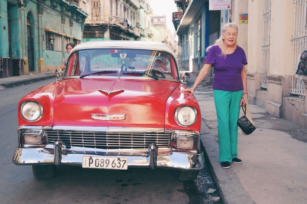 Habana Centro: this sweet lady was stoked to get her photo taken