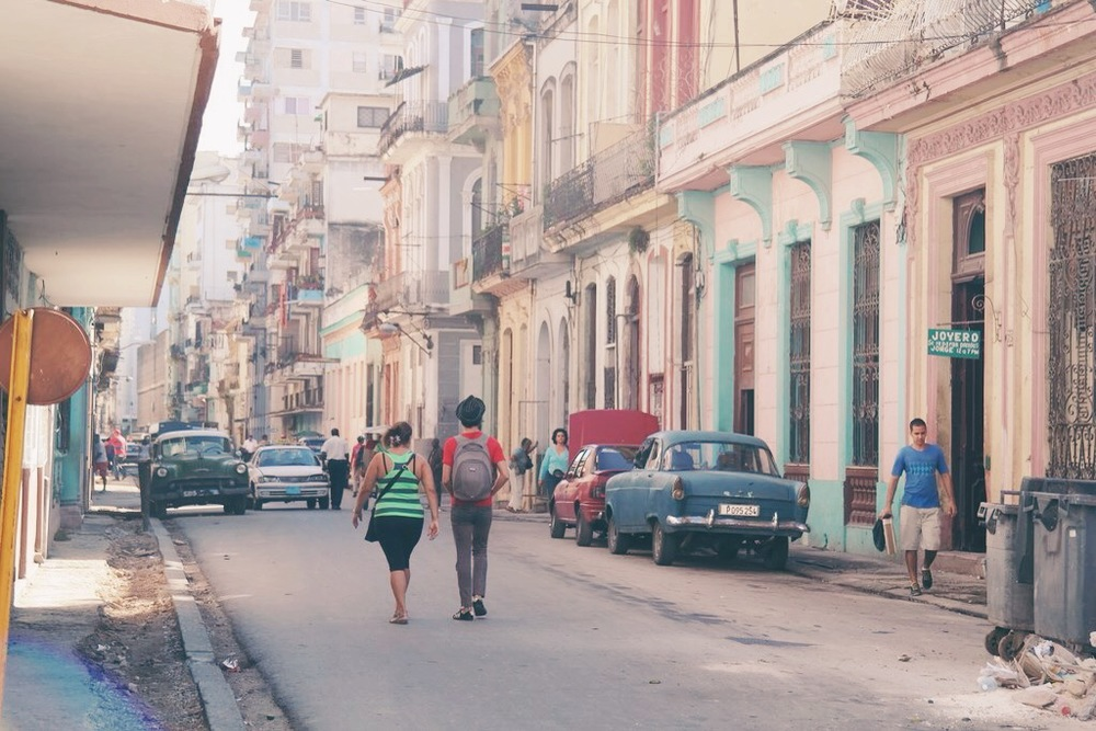 Habana Centro: one of the streets near our firts casa