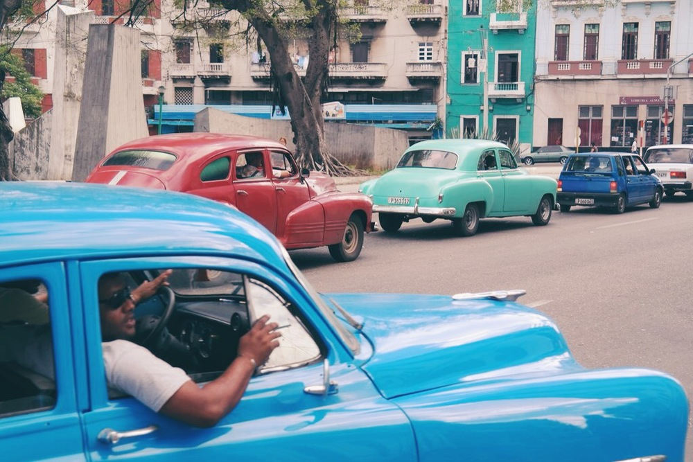 Habana Centro: classic car line up