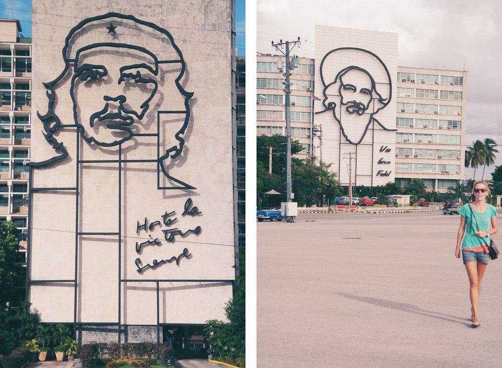 Plaza de la Revolucion - Che Gevara & Camilo Cienfuegos