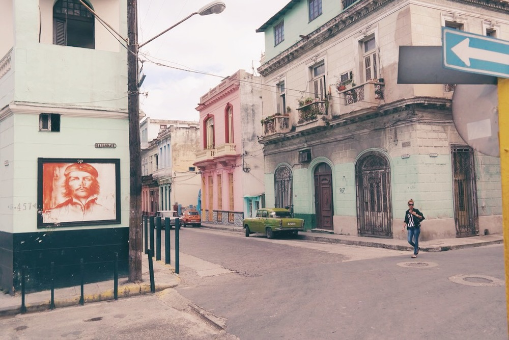 images of Che Guevara can be found everywhere in Havana