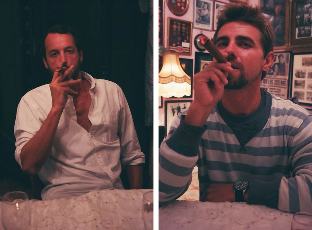 boys and their cigars...
