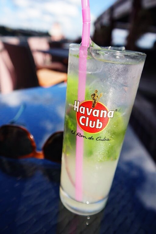 a mojito at the rooftop bar of Hemingway's hotel in Havana Vieja