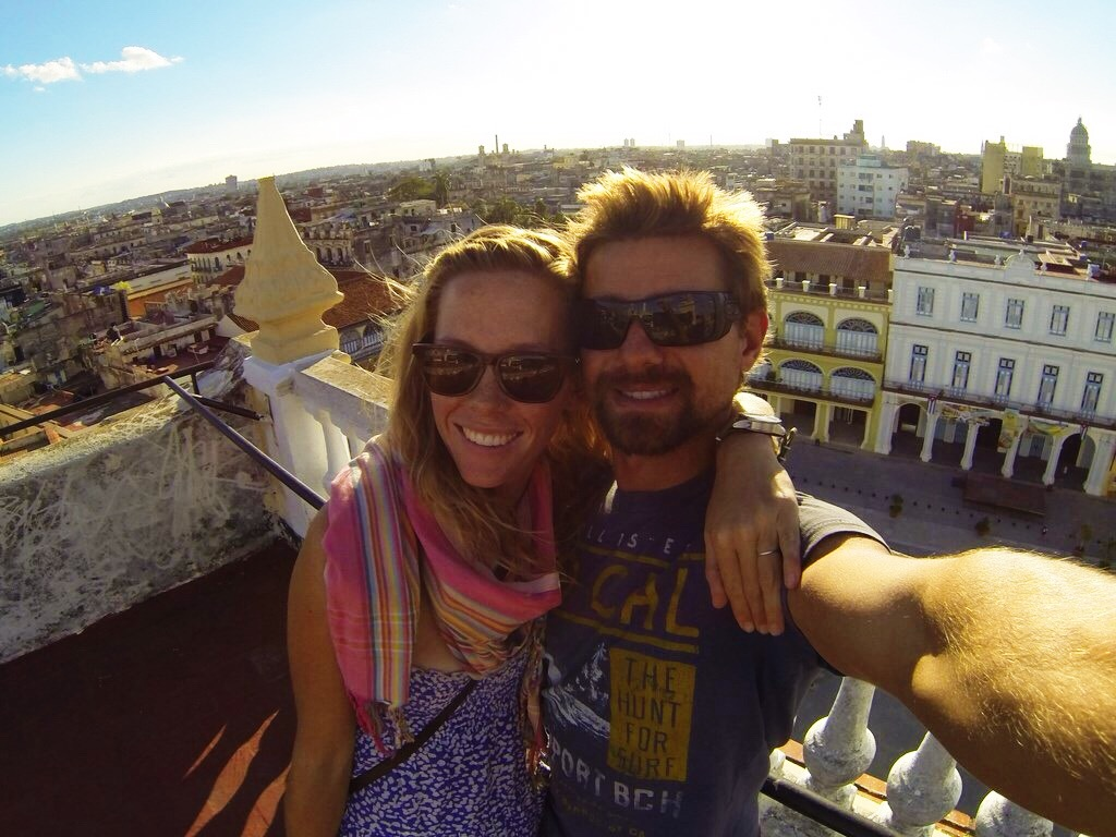 GoPro selfies overlooking Old Havana City
