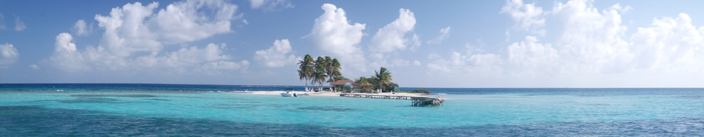 pano of Goff's Caye