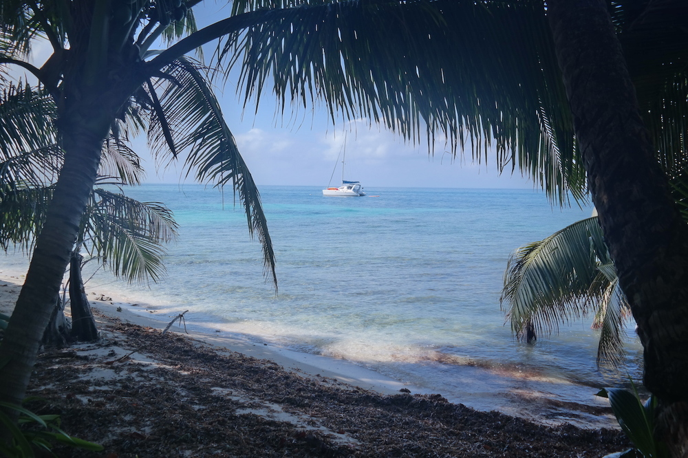 a private shady spot on Ranguana Caye's beach