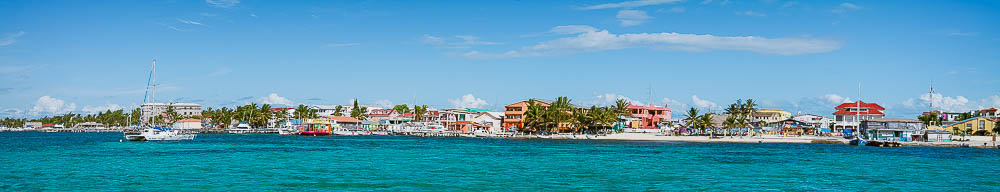 our view of San Pedro, Ambergris Caye, from the anchorage