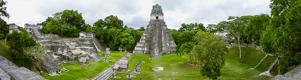 "Temple of the Grand Jaguar, tomb of ""Lord Chocolate"" (Ah Cacau), one of Tikal's greatest rulers"