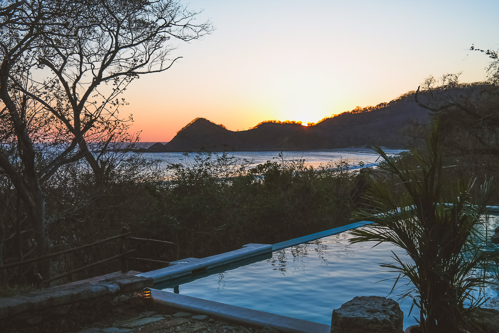 sunset over Morgan's Rock, north of San Juan del Sur