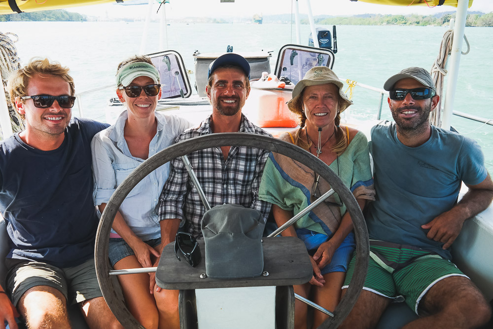 our full team aboard Melody as we finally arrive in the Pacific!