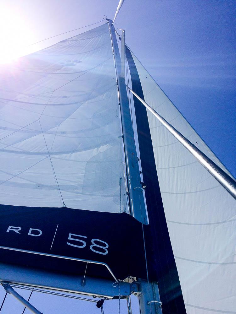 testing the massive new sails