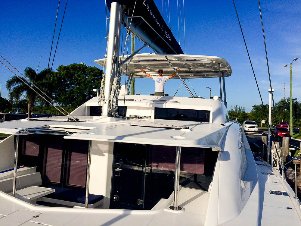 finally at our destination: Ft Lauderdale, Florida and our shiny new catamaran!