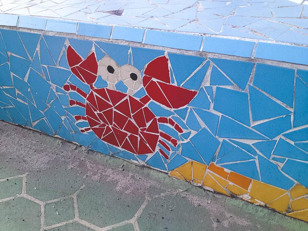 mosaics along the Hamdeok Beach promenade