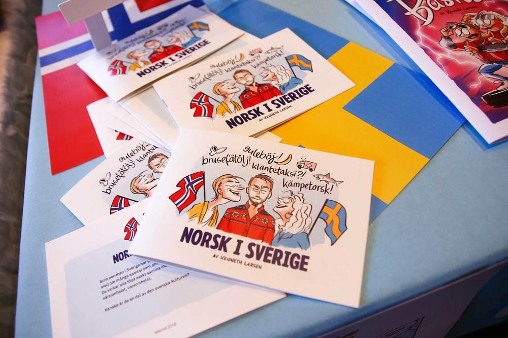 Norsk i Sverige, tegneseriehefte.