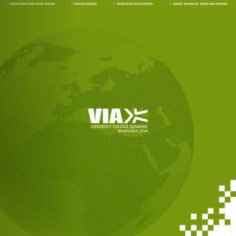 VIA University College International præsentationsbrochure