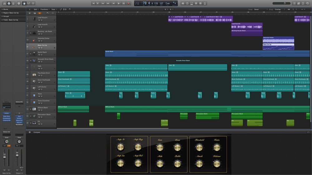 Lydproduktion og redigering Bl.a. Logic, ProTools m.m.