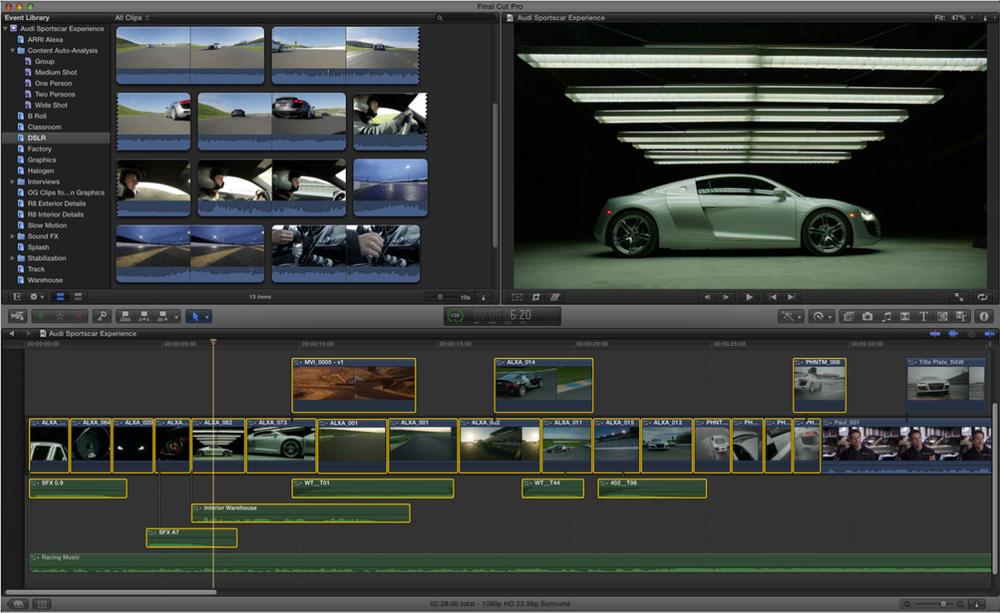Video redigering Bl.a. Final Cut, Premiere, iMovie m.m.