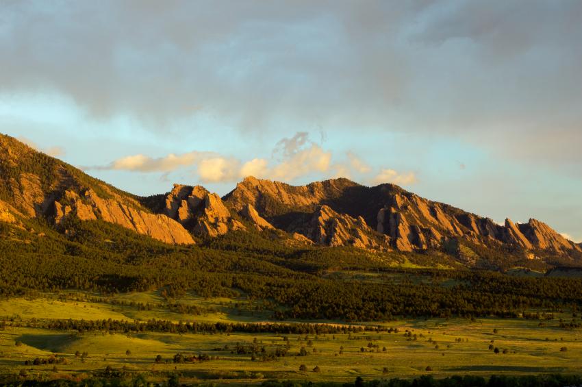 The flatirons of Boulder, Colorado. Home of the University of Colorado and Rob Beardsley Design.