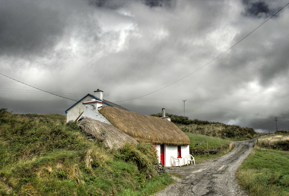 Thatched-Roof Cottage, Ireland