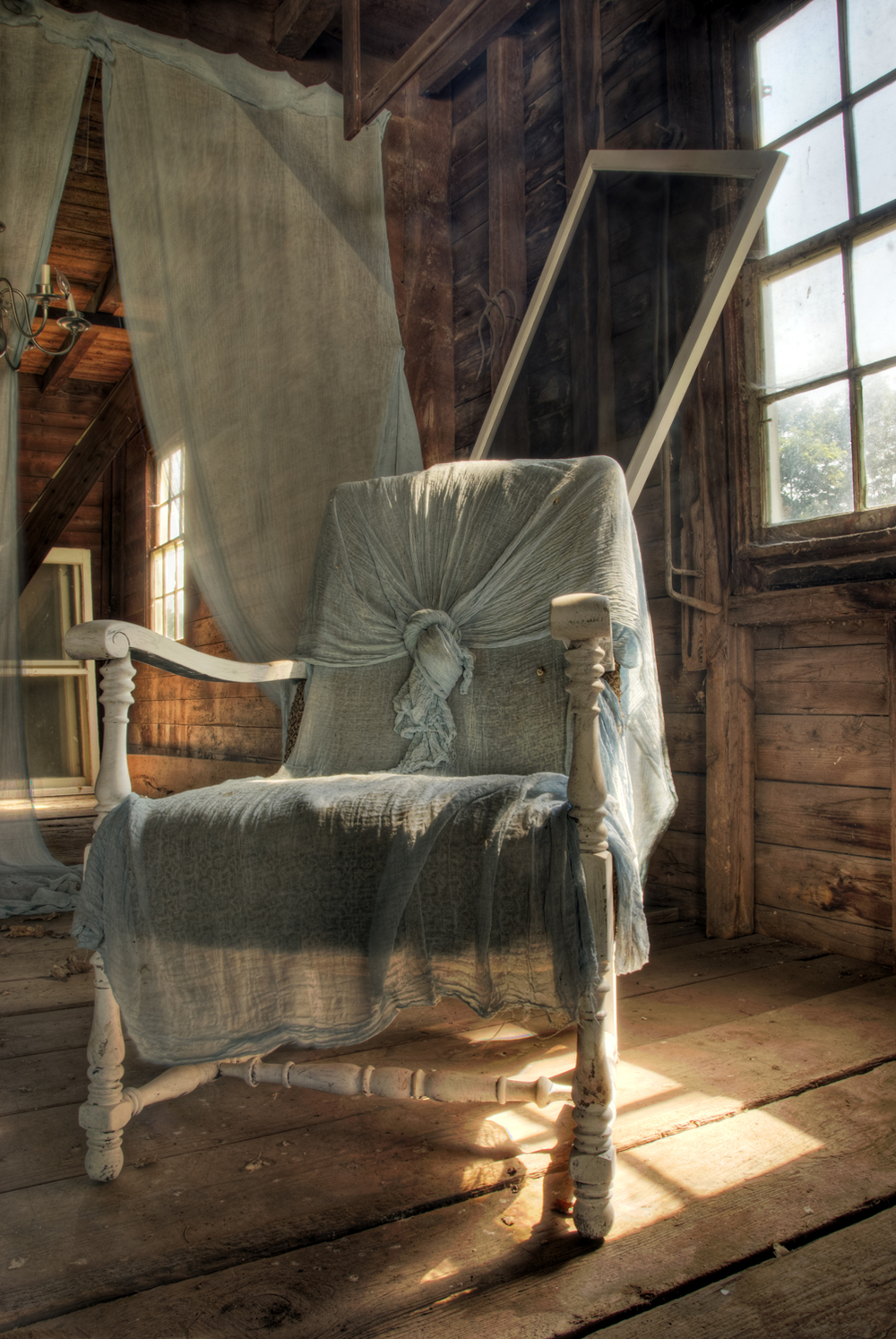 Barn, Chair, Window