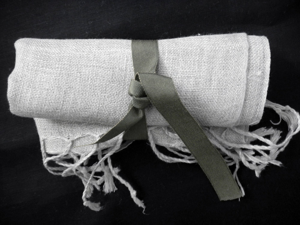 Morna Crites Moore  will receive this soft linen scarf.