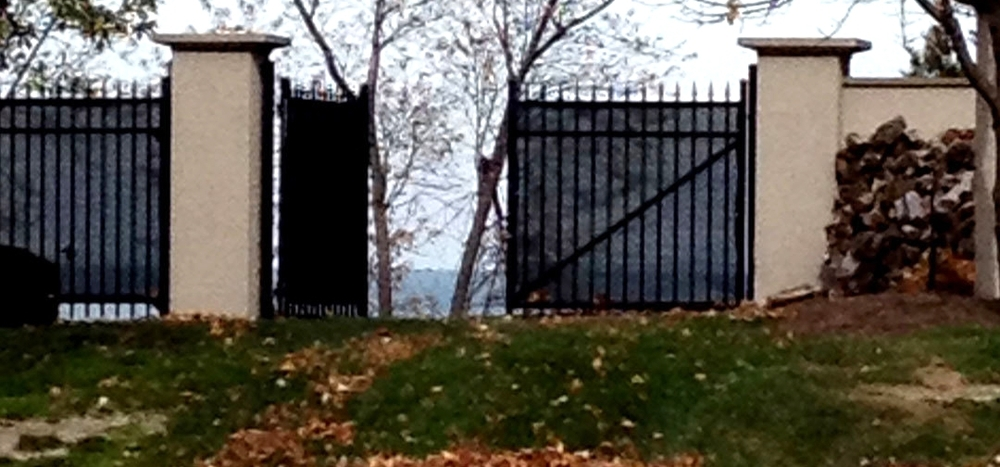 Open gate facing Lake Erie in my neighborhood