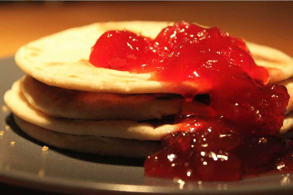 Chapati Jam Pancake