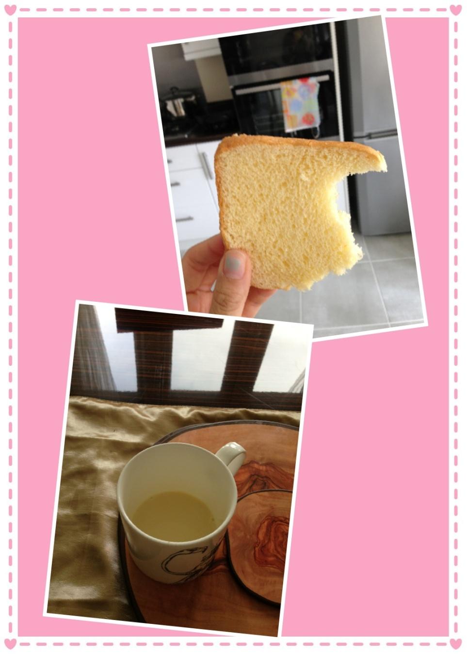 Breakfast: Soya Milk + Bread