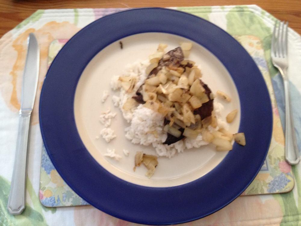 Day 2 Dinner - Liver & Rice