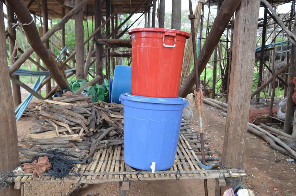 The team built a simple but effective water filter system