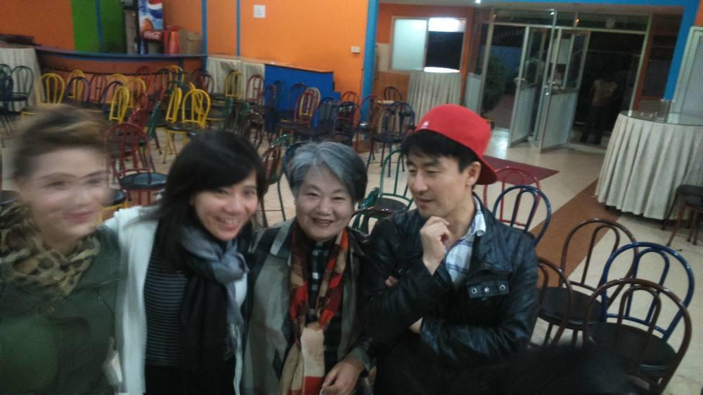 R to L Ps John, Hotel owner, Ai Seok and Sarita