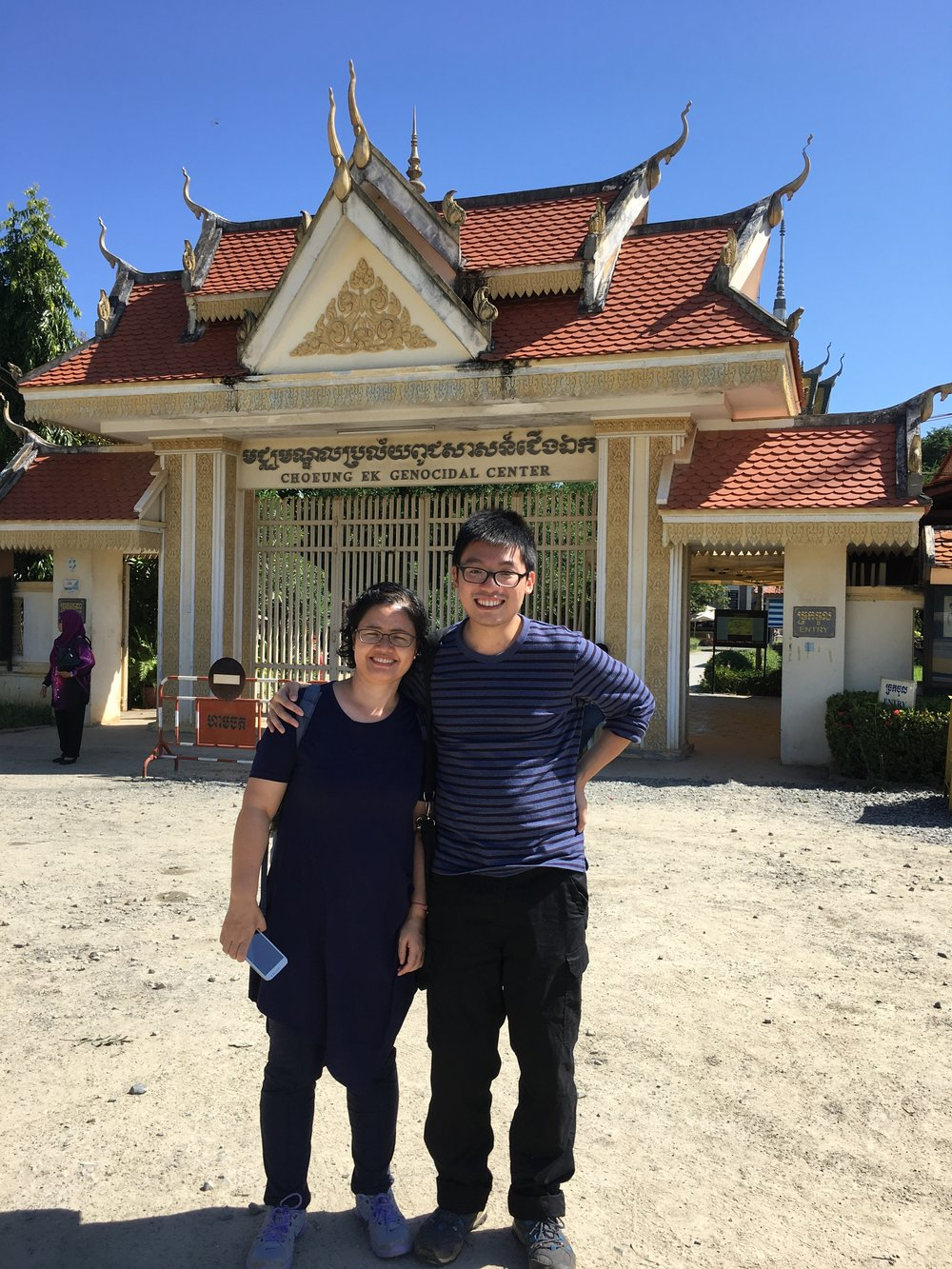 We took a trip to the killing fields. I must say...I gained weight.....