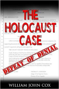 The Holocaust Case  , which ruled the gassing of Jews by Hitler was simply a fact and not reasonably subject to dispute, was featured in the movie,   Never Forget  , but the real story has never been told.     Now, for the first time, the true facts are revealed by William John Cox, the public-interest lawyer who represented a Nazi death camp survivor and sued the radical organizations that denied the Holocaust. In retaliation, Cox was sued for defamation by the reclusive leader of a shadowy consortium that earned millions peddling historical lies and bizarre theories of racial superiority. His recollection of these matters is supplemented by official court records.    In a poignant personal memoir, the author details his path from an orphan named Billy Jack to a representative of a secret client in the publication of the suppressed Dead Sea Scrolls.    Along his circuitous life path, Cox meets another orphan one who could never forget the extermination of his entire family by the Nazis. The survivor had been taunted by the deniers to prove the truth of the Holocaust. Together, the two accept the challenge and make history.    Cox discusses his unconventional practice of law, in which he undertook these landmark cases without charging a fee, and tells why he did it. He derives lessons from the Holocaust and explains how the insights relate to current social and political conditions.
