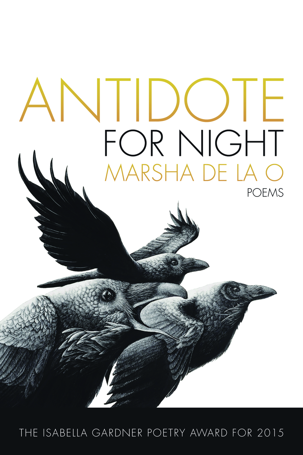 Set in present-day Southern California, Antidote for Night is a heartbreak lyric, a corrido, a love song to California's city lights and far-flung outskirts—the San Diego backcountry, the Central Valley, the Inland Empire, and the Mojave Desert. A book of remedies for dire circumstances, rock-bottom realities, and the unrelenting weight of mortality, specifically among young men of color, this collection shows what it takes to see in darkness. Marsha de la O's voice is a kind of free jazz, musically rich with L.A. noir and the vastness of metropolitan Southern California.