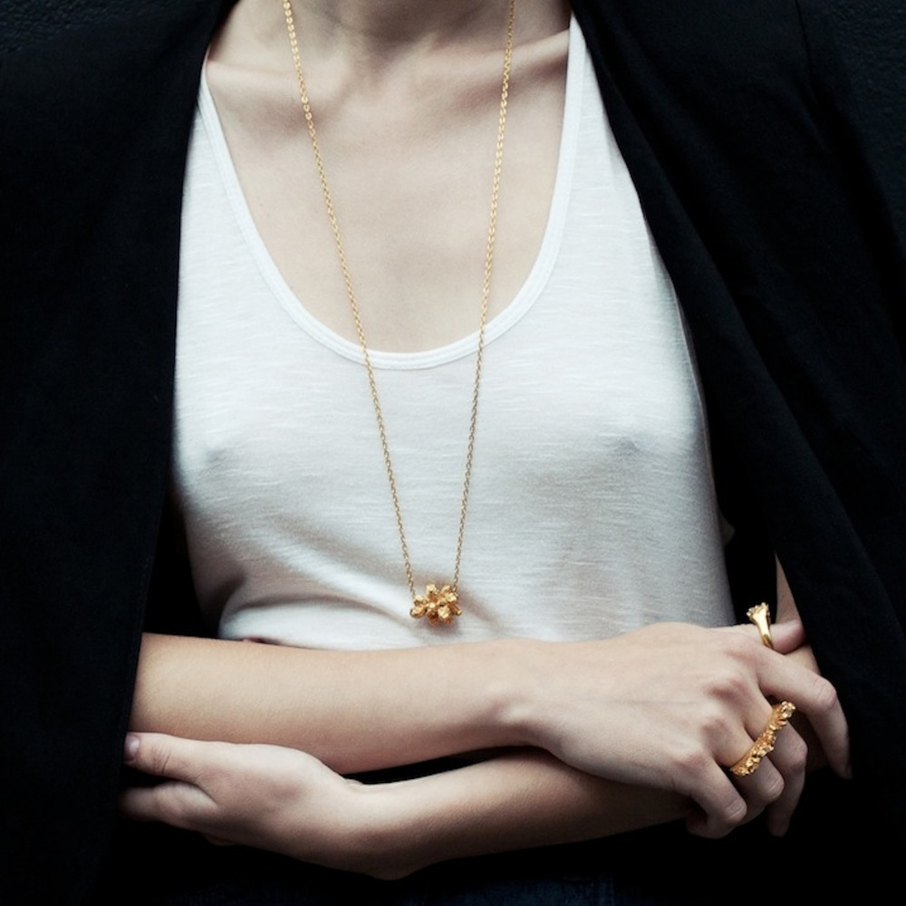 Niza Huang: Under Earth Big Stones Pendant | Jewelry > Necklaces,Jewelry -  Hiphunters Shop