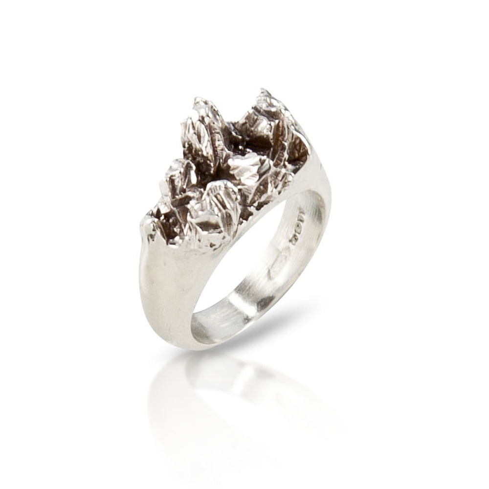 Under Earth Half Texture Ring