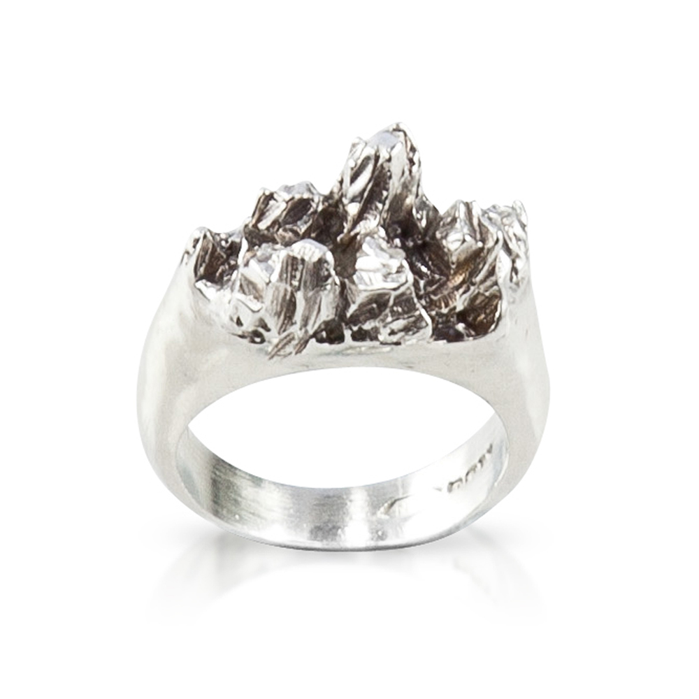 Niza Huang: Under Earth Half Texture Ring | Jewelry > Rings,Jewelry -  Hiphunters Shop