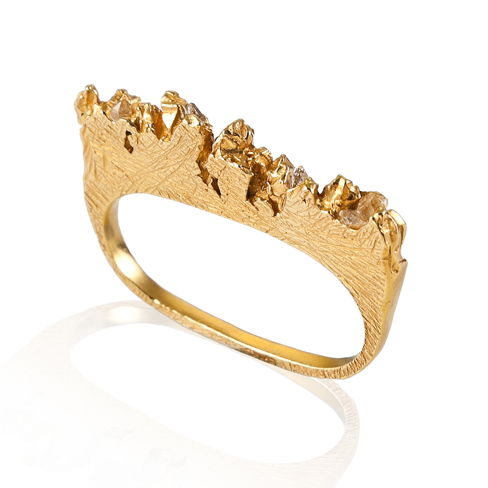 Niza Huang: Under Earth 2 Fingers Ring | Jewelry > Rings,Jewelry -  Hiphunters Shop