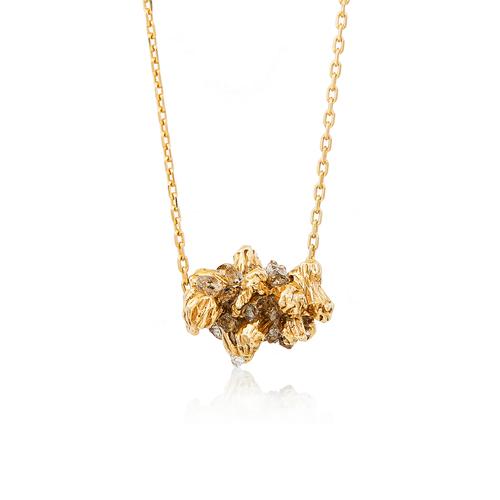 Under earth big stones pendant gold niza huang jewellery under earth big stones pendant gold aloadofball Images