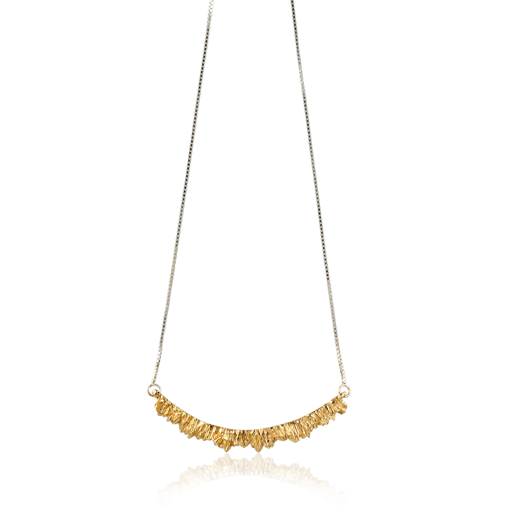 Niza Huang: Under Earth Texture Necklace - Silver&Gold   Jewelry > Necklaces,Jewelry -  Hiphunters Shop