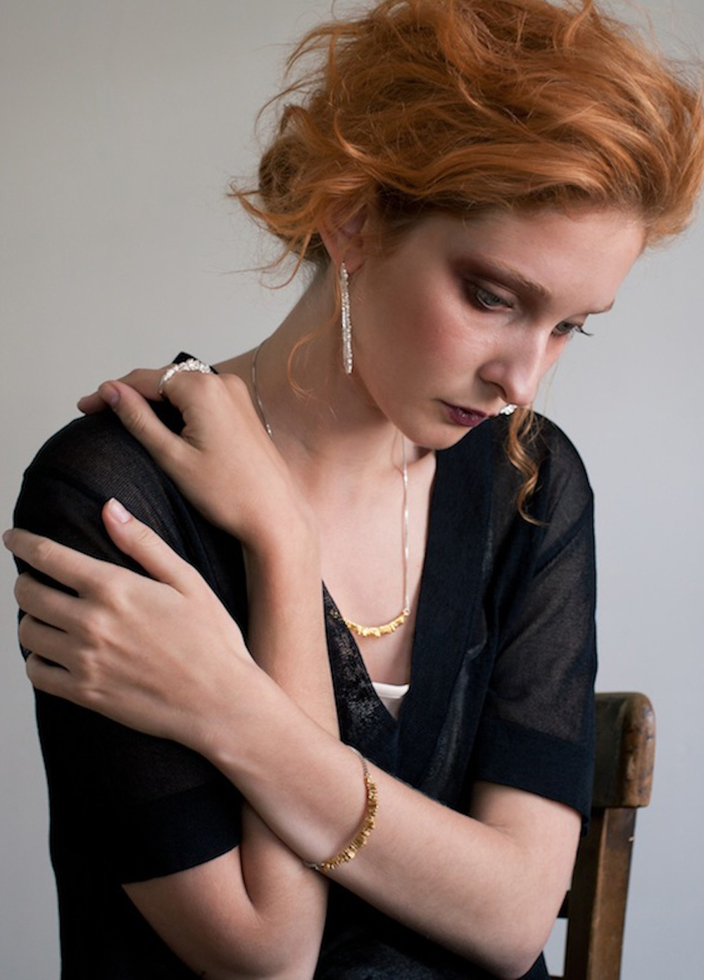 Niza Huang: Under Earth Texture Necklace | Jewelry > Necklaces,Jewelry -  Hiphunters Shop