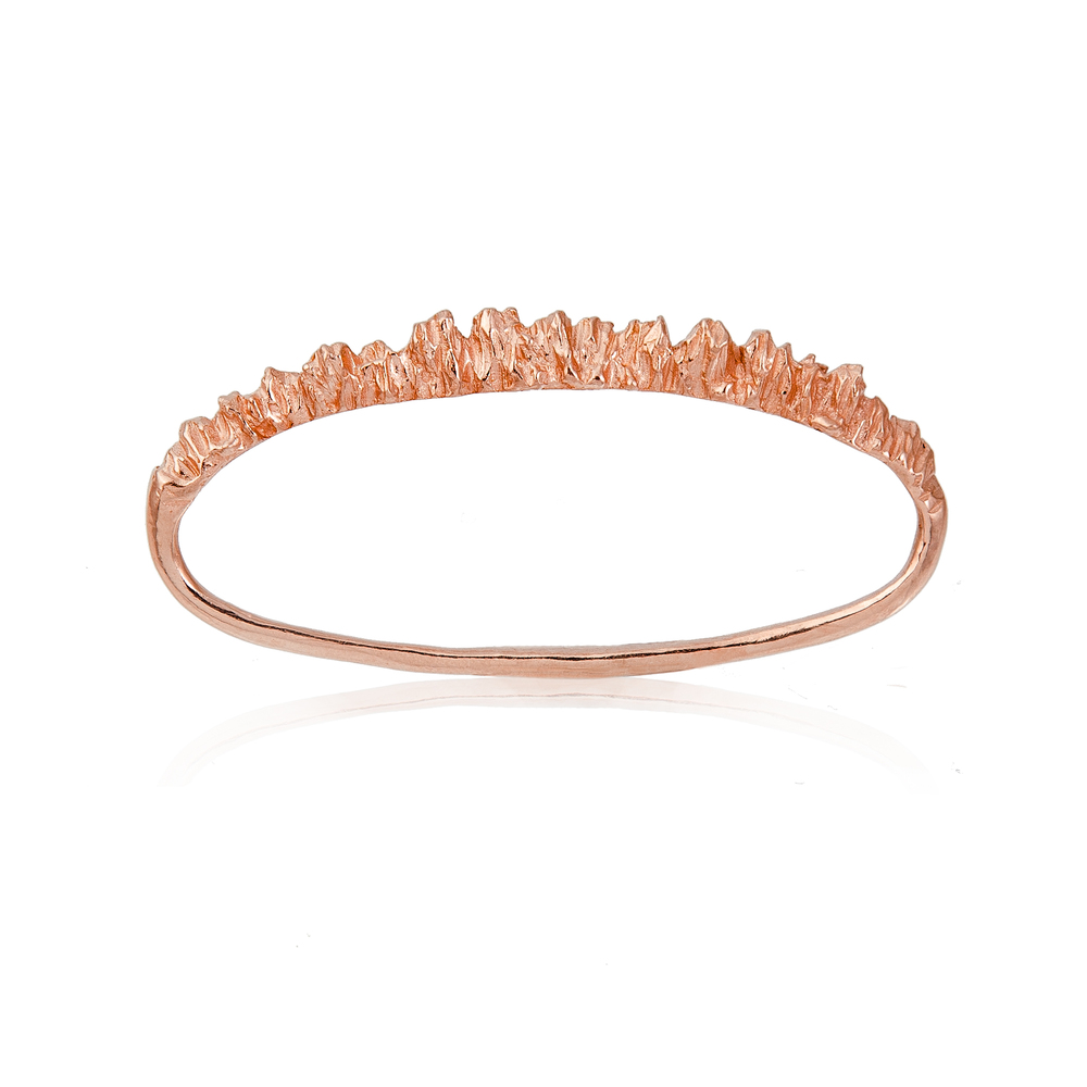 Under Earth 3 Fingers Ring - Rose Gold