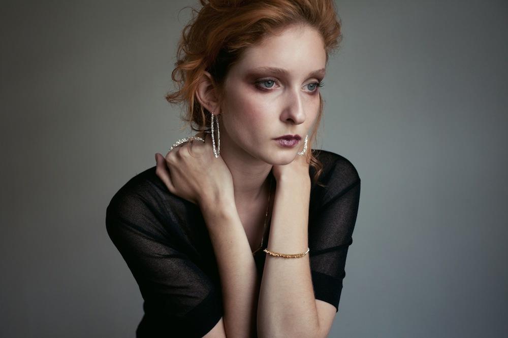 Niza Huang: Under Earth Texture Hoop Earrings | Jewelry > Earrings,Jewelry -  Hiphunters Shop