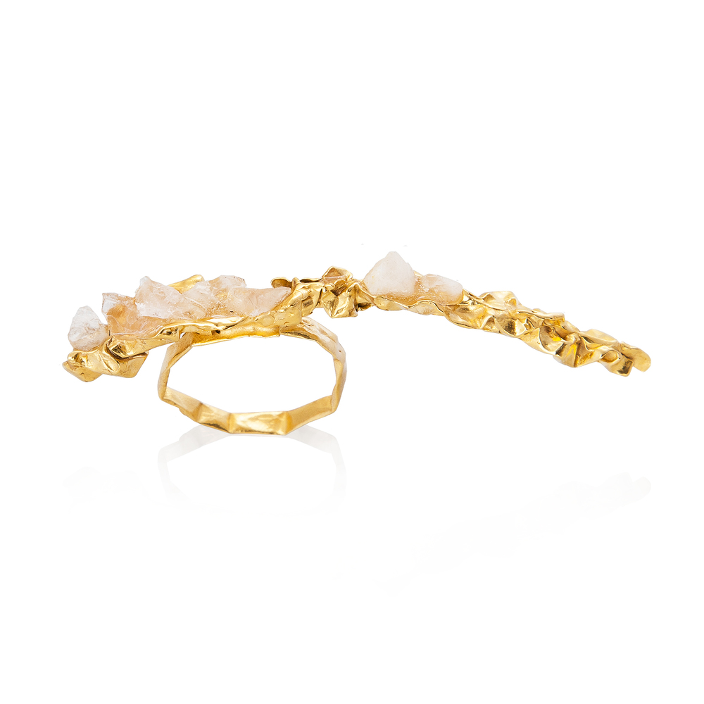 Niza Huang: Crush Long Ring - Gold | Jewelry > Rings,Jewelry -  Hiphunters Shop