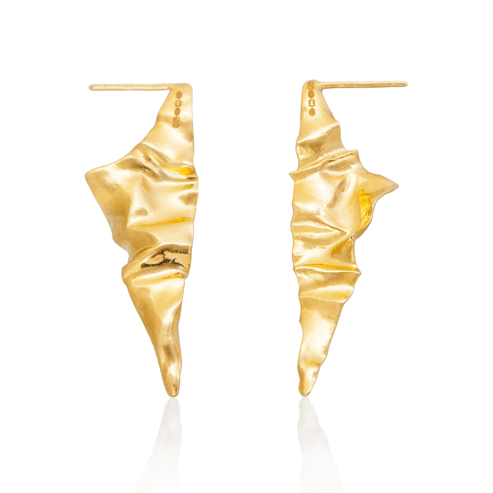 Niza Huang: Crush Triangular Earrings - Gold - Hiphunters Shop