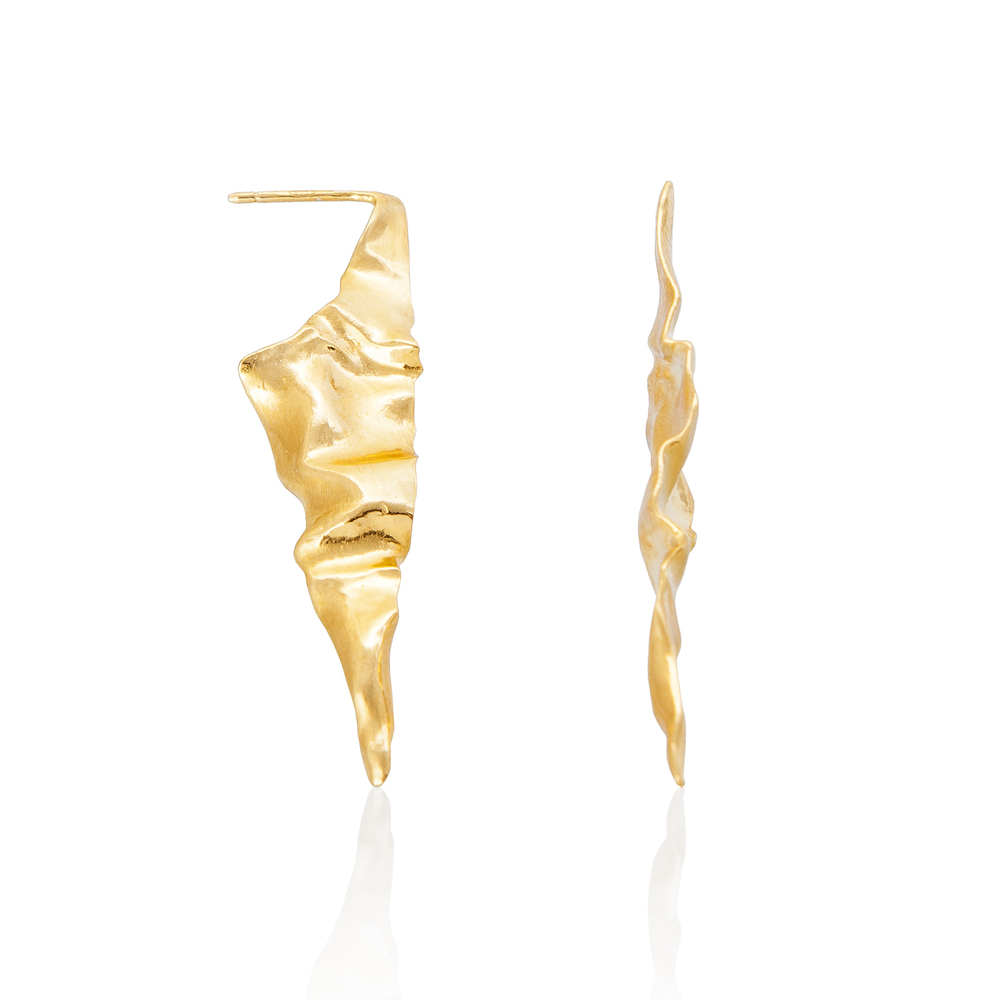 Niza Huang: Crush Triangular Earrings - Gold | Jewelry > Earrings,Jewelry -  Hiphunters Shop